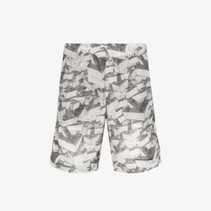 Off-white Mens Grey Arrow Print Swim Shorts