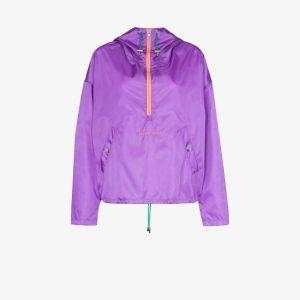 Self Cinema Womens Purple Hooded Half-zip Anorak