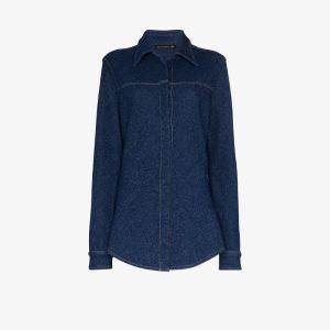 Alled-martinez Knit Effect Denim Slim Fit Shirt