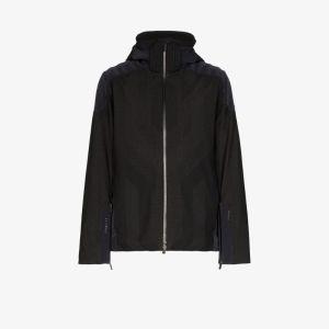 Kjus Mens Black Freelite Hooded Zipped Jacket