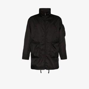 Prada Mens Black Multi-pocket Parka Coat