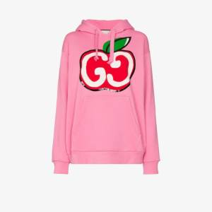 Gucci Womens Pink Gg Apple Print Hoodie