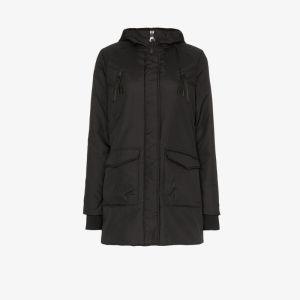 Norden Womens Black Mika Padded Water Resistant Parka