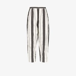 Alexander Mcqueen Womens Black High Waist Striped Trousers