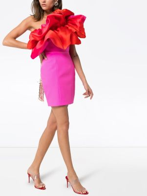 Image 2 of Solace London Finley ruffled mini dress