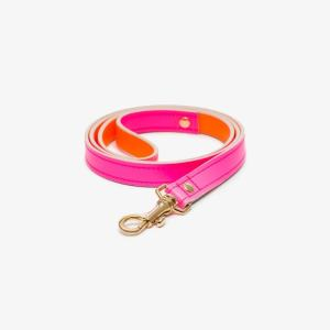 Black & Brown Womens Pink And Orange Jamie Leather Leash