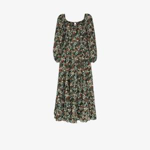 Rixo Womens Green Marie Printed Cotton Maxi Dress