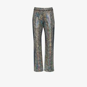 Kirin Womens Silver Rainbow Mosaic Suit Trousers