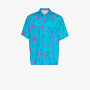 Iroquois Mens Blue Dead Rose Printed Shirt
