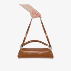 Venczel Womens Brown Elan Leather Shoulder Bag