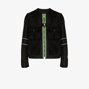 Heron Preston Mens Black Utility Zip-up Jacket