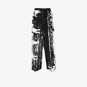 Th X Vier Antwerp Mens Black X Taro Horiuchi Printed Trousers