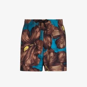 Dries Van Noten Mens Brown Phibbs Swim Shorts