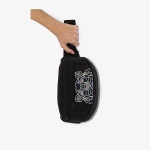 Kenzo Mens Black Tiger Logo Cross Body Messenger Bag