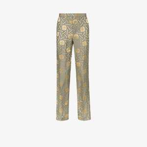 Haider Ackermann Mens Gold Amiral Mid-rise Tailored Trousers