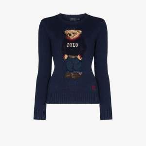 Polo Ralph Lauren Womens Blue Polo Ralph L Polo Br Swtshrt Crwnk Lng S