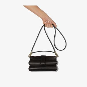 The Sant Womens Black Hinadan Leather Shoulder Bag