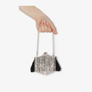 Black & Brown Womens Bb Flora Crystal Fringe Bag