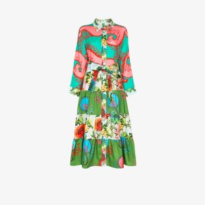 Rianna + Nina Womens Pink Eleni Patchwork Print Shirt Dress