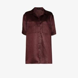 Joseph Womens Red Brani Button-down Shirt