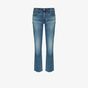 J Brand Womens Blue Adele Straight Leg Jeans