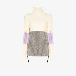 Moncler Genius Womens Neutrals 2 Moncler 1952 Rib Knit Turtleneck Sweater