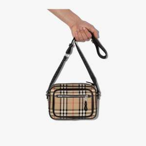 Burberry Mens Neutrals Beige Paddy Vintage Check Cross Body Bag