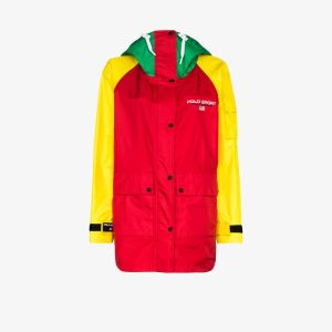 Polo Ralph Lauren Womens Red Colour Block Logo Jacket