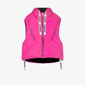 Khrisjoy Womens Pink Kh Sleeveless Puffer Jacket