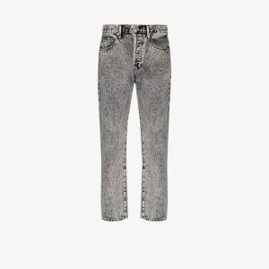 Frame Womens Grey Le Original Straight Leg Jeans