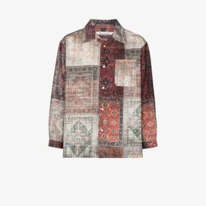 Children Of The Discordance Mens Brown Personal Patchwork Shirt