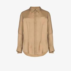 Sulvam Mens Neutrals Wings Slim Fit Dart Shirt
