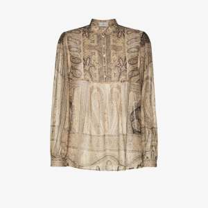 Etro Womens Brown Paisley Print Blouse