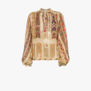 Etro Womens Multicolour Paisley Print Silk Blouse