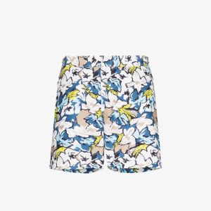 Orlebar Brown Mens White Bulldog South Beach Floral Print Swim Shorts