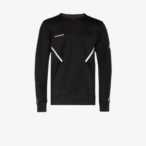 Mammut Mens Black Avers Logo-print Performance Top