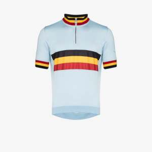 Rapha Mens Blue Classic Belgium Cycling Performance Jersey
