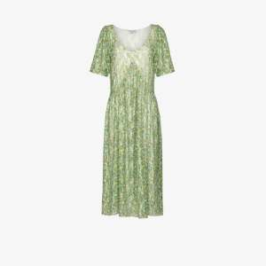 Collina Strada Womens Green Princess Mariposa Floral Lace Midi Dress