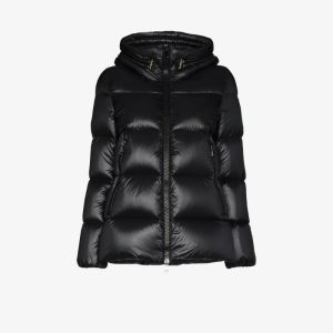Moncler Womens Blue Hooded Puffer Jacket