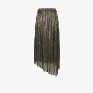 Isabel Marant étoile Womens Silver Dolmenae Metallic Pleated Skirt