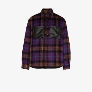 Duoltd Mens Purple Checked Shirt