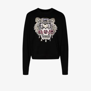 Kenzo Mens 99 - Classic Molleton Varsity Tiger - Bl Varsity Tiger Cotton Sweatshirt