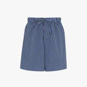 Tekla Fabrics Mens Blue Organic Cotton Pyjama Shorts