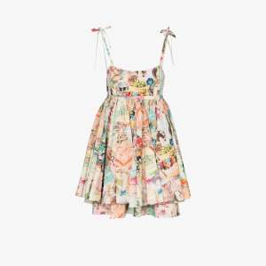 The Marc Jacobs Womens Multicolour The Babydoll Cake Print Dress