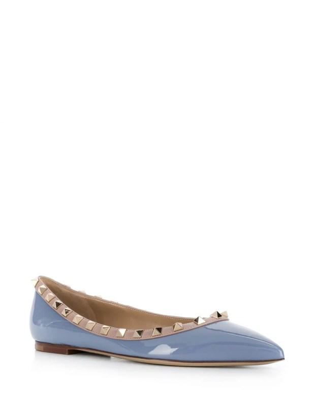Image 2 of Valentino Garavani Rockstud-embellished ballerina shoes