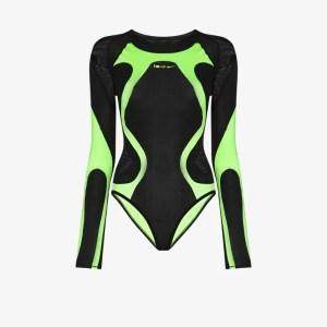 Nike Womens Black Ispa Contrast Panel Bodysuit