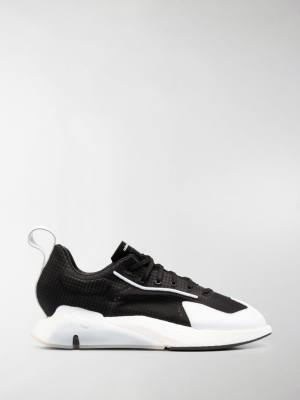 Y-3 panelled lace-up sneakers