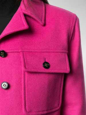 Saint Laurent chest flap pockets buttoned jacket