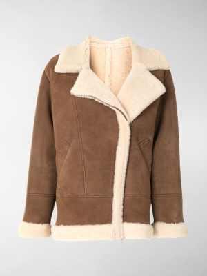 Blancha oversized aviator-style jacket