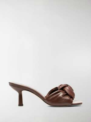 BY FAR knot front leather mules